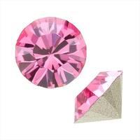 Swarovski Crystal, 1088 Xirius Round Stone Chatons ss39, 6 Pieces, Rose