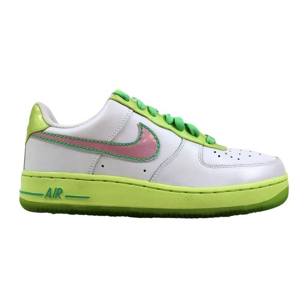 sale retailer 3b1a1 c2018 Nike Air Force 1 White Perfect Pink-Lime-Tourmaline 314219-163 Grade