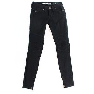 Affliction NEW Black Women's Size 25X30 Slim Skinny Seamed Stretch Jeans