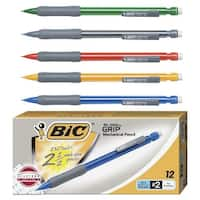 BIC Matic Grip Latex-Free Mechanical Pencil, No 2, 0.7 mm HB Tip, Assorted Color, Pack of 12