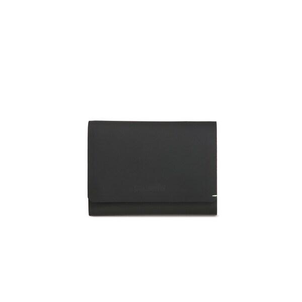 Pacsafe RFIDsafe TEC Trifold Wallet - Black/Lime RFID Blocking Slim Tri-fold Wallet
