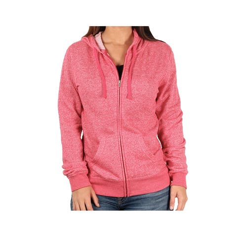 ITC Ladies French Terry Full-Zip Hoodie, Red Heather, Size X-Small