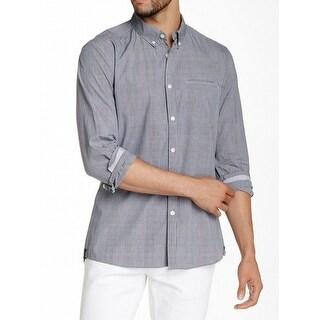 Kenneth Cole NEW Black White Mens Size Medium M Button Down Shirt