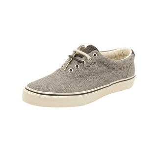 Sperry Mens Striper LL Chambray Sneakers in Black