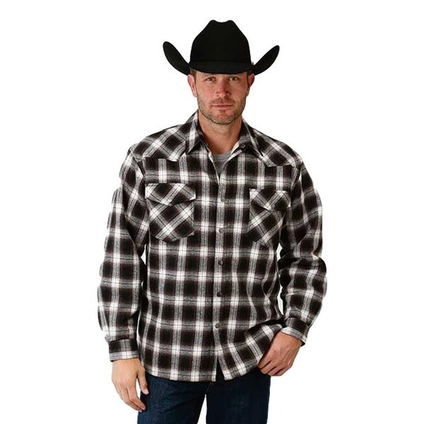 5f9e22ba Shop Roper Western Shirt Mens Plaid Flannel Snap Brown - Free Shipping On  Orders Over $45 - Overstock - 19874004