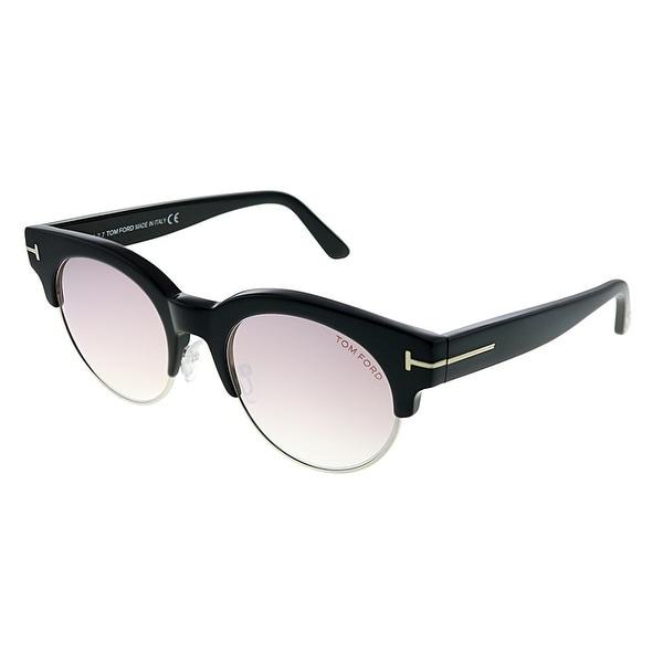 Tom Ford Henri-02 TF 598 01Z 52mm Womens Black Silver Frame Light Brown Gradient Lens Sunglasses. Opens flyout.