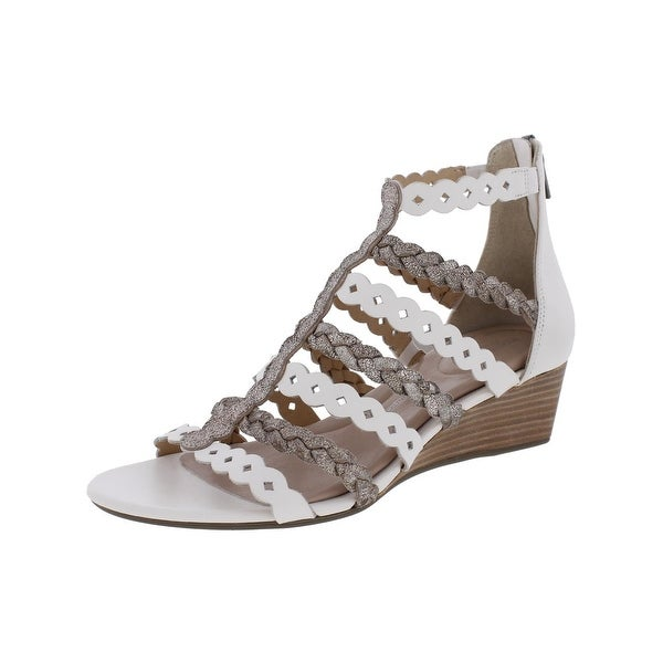 Rockport Womens Wedge Sandals Metallic Caged