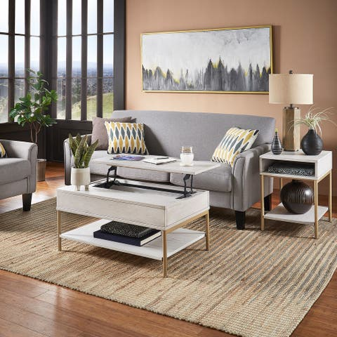 Elio Two-Tone Lift-Top Rectangular Tables by iNSPIRE Q Modern