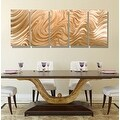 Statements2000 Copper Modern Abstract 3D Metal Wall Art Panels by Jon Allen - Copper Hypnotic Sands - Thumbnail 5