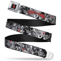 Harley Quinn Diamond Full Color Black Red Harley Quinn Poses Joker Love Seatbelt Belt