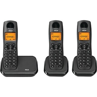 Rca 2161-3Bkga Element Series Dect 6.0 Cordless Phone With Caller Id 3-Handset System