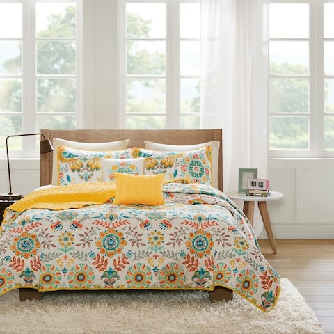Mona Reversible Coverlet Set by Intelligent Design