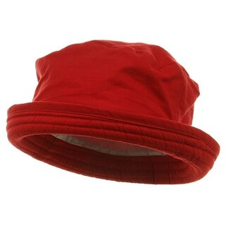 Washed Twill Fashion Hat-Red