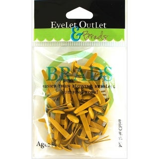 Eyelet Outlet Round Brads 8mm 40/Pkg-Yellow