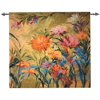 """Martha's Choice Multi-Color Flowers Cotton Wall Art Hanging Tapestry 53"""" x 56"""" - multi"""