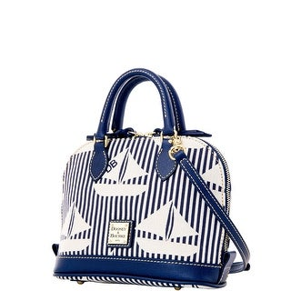 Dooney & Bourke Sailboat Bitsy Bag (Introduced by Dooney & Bourke at $178 in Jan 2016) - navy white