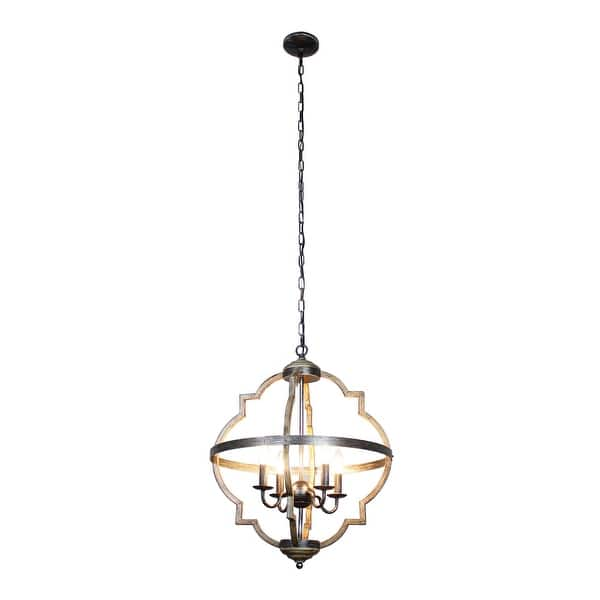 Antique Distressed Metal 4 Light Candle Style Chandelier On Sale Overstock 30564023