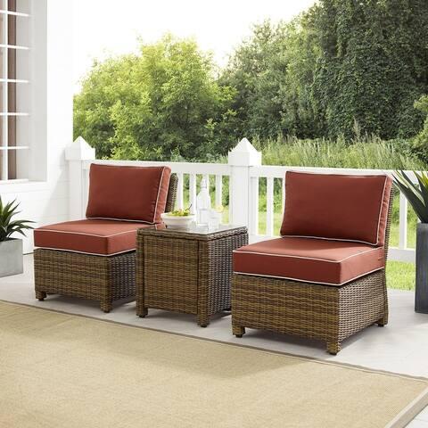 Bradenton 3Pc Outdoor Wicker Chair Set