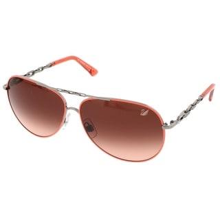 Swarovski SK0032/S 20F Coral/Silver Aviator Sunglasses