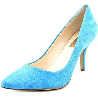 INC International Concepts Zitah Women Pointed Toe Suede Blue Heels