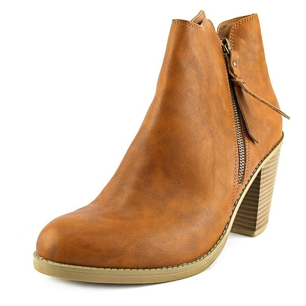 American Rag Baxter Women Round Toe Synthetic Brown Ankle Boot