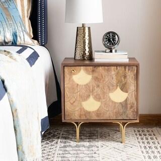 Safavieh Celestina Modern Brown Wood Storage Nightstand