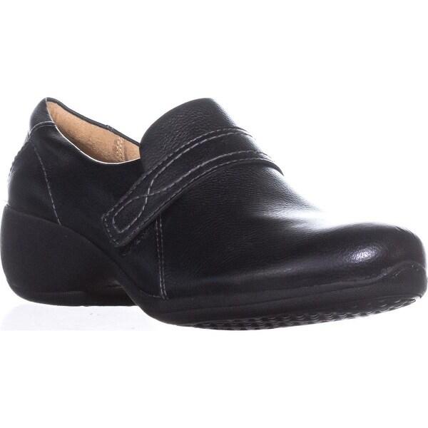 naturalizer Josefa Cross Strap Loafers, Black