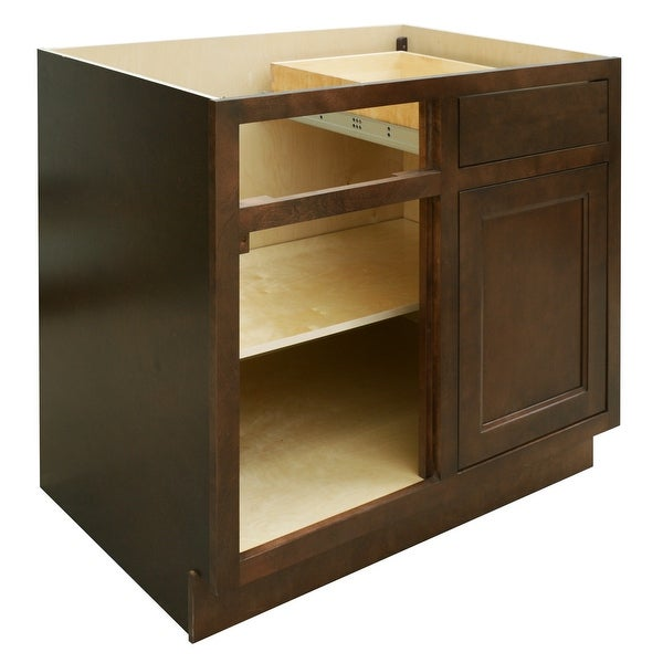 Sunny Wood Hbb36bc A Healdsburg 36 Blind Corner Base Cabinet With Dovetail Drawer And Full Extension Soft Close Slides Free Shipping Today