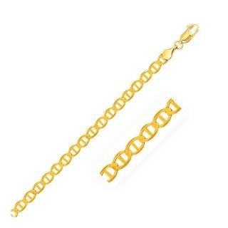 Mcs Jewelry Inc 14 KARAT YELLOW GOLD MARINER LINK CHAIN BRACELET (5.2MM)
