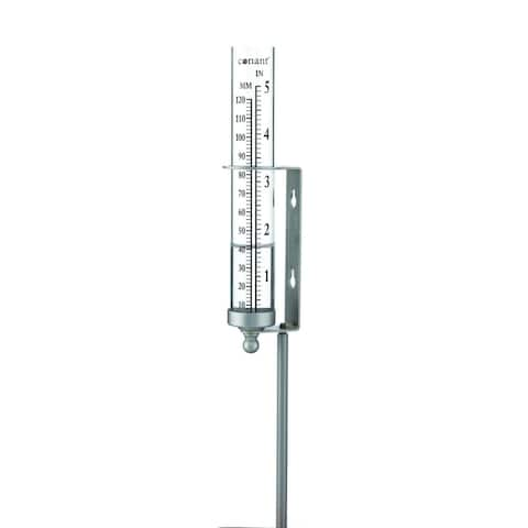 "11"" Gray and Clear Dual Purpose Rain and Watering Gauge"