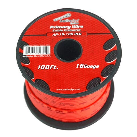 Audiopipe ap-16-100 red audiopipe 16 gauge 100ft red primary wire