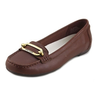 Anne Klein Noris Women Round Toe Leather Loafer