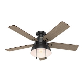 """Link to Hunter 52"""" Mill Valley Outdoor Low Profile Ceiling Fan with LED Light Kit and Pull Chain, Damp Rated Similar Items in Ceiling Fans"""