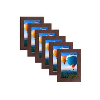 MDF Wood Picture Frames 4x6 with PVC Lens (Set of 6) LB1632