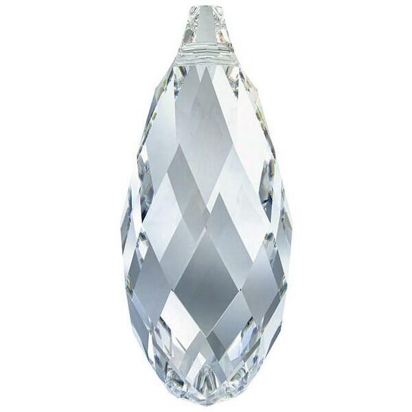 Swarovski Elements Crystal, 6010 Briolette Pendants 13x6.5mm 2 Pieces, Crystal Blue Shade