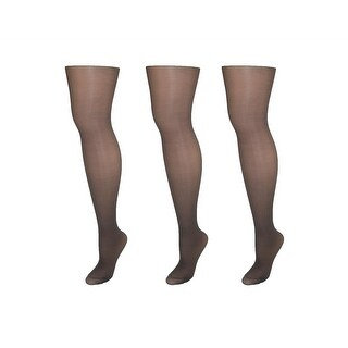 Hanes Alive Women's Nylon Support Reinforced Toe Sheer Pantyhose (Pack of 3)