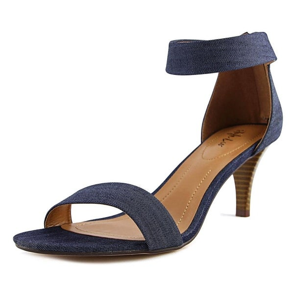 Style & Co Paycee Women Open Toe Canvas Blue Sandals