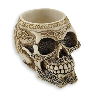 Celtic Knot Skull Pen Holder