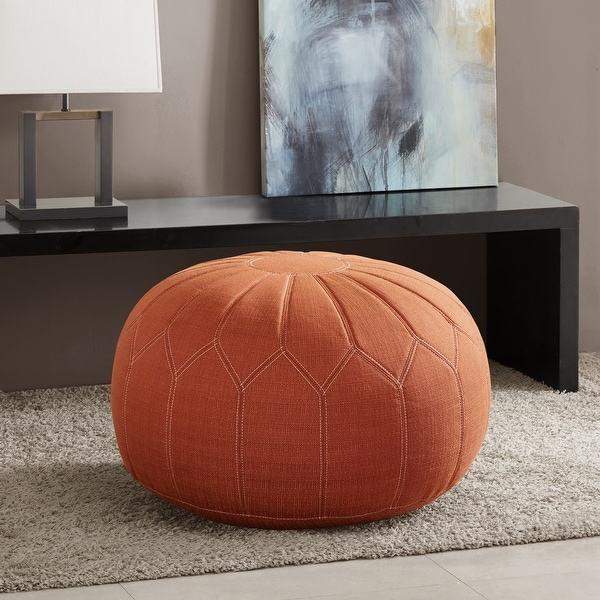 Madison Park Taylor Round Pouff Ottoman. Opens flyout.