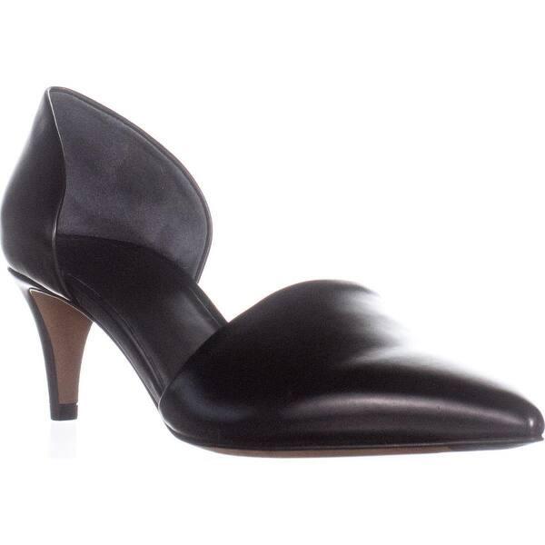 Black Pointed Toe Kitten Heels