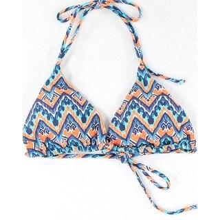 Vix NEW Blue Orange Womens Size Medium M Halter Bikini Top Swimwear