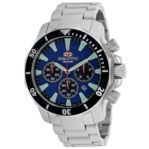 Seapro Men's Scuba Dragon Diver Limited Edition 1000 Meters Blue Dial Watch - SP8344