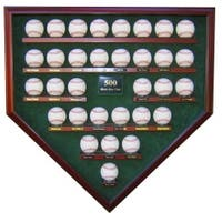 500 HR Club 32 Baseballs Homeplate Shaped Display Case