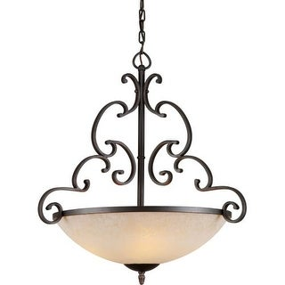 Forte Lighting 2541-04 4 Light Bowl Pendant