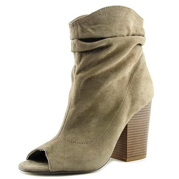 Indigo Rd. Iris Park Women Open-Toe Synthetic Tan Ankle Boot