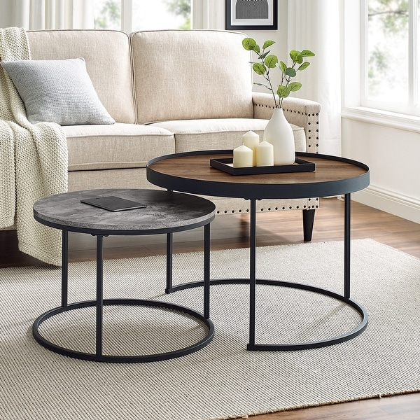 Carbon Loft Two-Tone Nesting Table Set. Opens flyout.