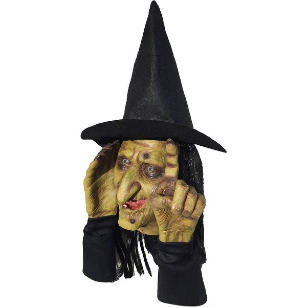 Scary Peeper Motion Activated Tapping Witch Peeper Decoration