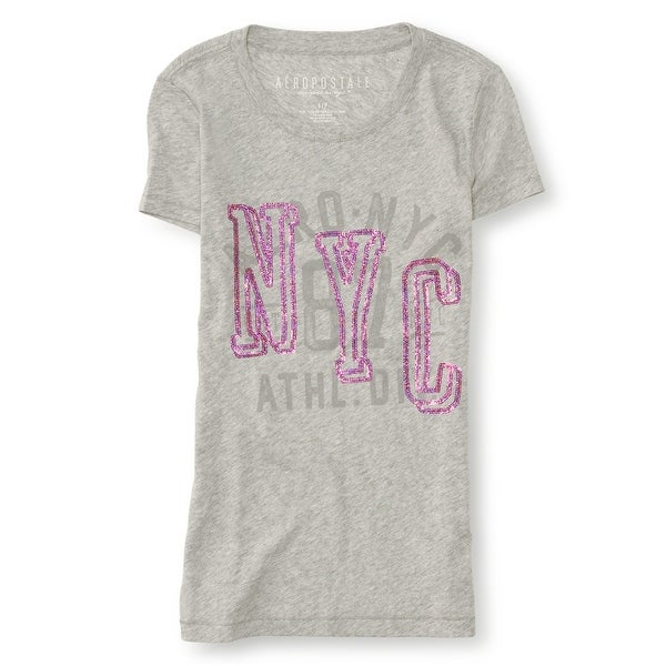 Aeropostale Womens NYC Sequined Embellished T-Shirt