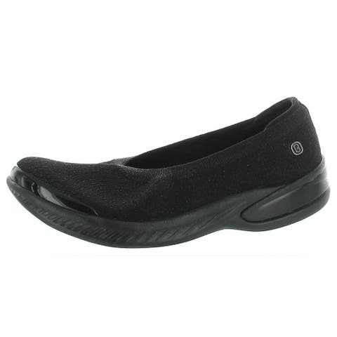 Bzees Womens Nutmeg Loafers Metallic Wedge - Simply Taupe - 6 Medium (B,M)