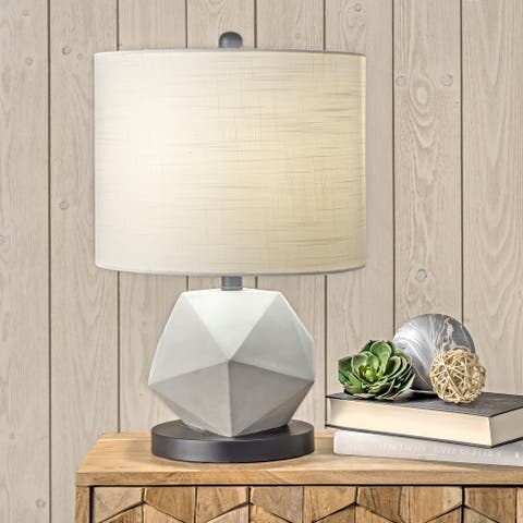 """nuLOOM Clairton 20"""" Cement Table Lamp"""